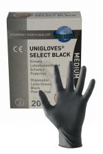 20 gants en latex jetables - Mister B : Pack de 20 gants chirurgicaux ambidextre en latex noir, taille M, par Mister B.