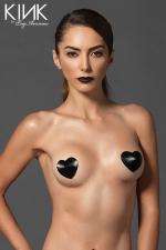 Caches tétons Satin Heart Niple : Caches tétons en satin capitonné, ils donnent à votre poitrine un style incomparable.
