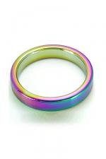 CockRing Rainbow acier : Cockring en acier inoxydable lourd haute qualité, anodisé pour ajouter un effet visuel incomparable.