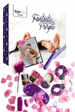 Fantastic Purple - sex toy  kit : Vibro, menottes, bandeau, etc... un coffret complet et pas cher contenant des accessoires coquins pour le couple.