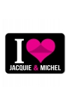 Plaque de porte I love J&M