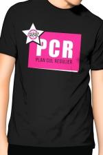 T-Shirt J&M PCR - noir : PCR pour Plan cul régulier, un T-shirt de la collection officielle Jacquie & Michel, coloris noir.