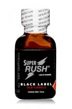 Poppers Super Rush Black Label 24 ml : Arôme liquide aphrodisiaque (en flacon de 24 ml,à base de Nitrite de Penthyl (le plus fort), pour aromatiser votre pièce.
