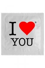 Préservatif humour - I Love You : Préservatif I Love You,  un préservatif personnalisé humoristique de qualité, fabriqué en France, marque Callvin.