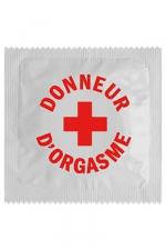 Préservatif humour - Donneur D'orgasme : Préservatif Donneur D'orgasme, un préservatif personnalisé humoristique de qualité, fabriqué en France, marque Callvin.