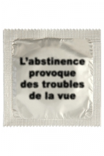 Préservatif humour - Abstinence : Préservatif Abstinence, un préservatif personnalisé humoristique de qualité, fabriqué en France, marque Callvin.