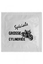 Préservatif humour - Grosse Cylindrée : Préservatif Grosse Cylindrée, un préservatif personnalisé humoristique de qualité, fabriqué en France, marque Callvin.