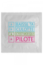 Préservatif humour - Baisse Ta Culotte : Préservatif Baisse Ta Culotte, un préservatif personnalisé humoristique de qualité, fabriqué en France, marque Callvin.