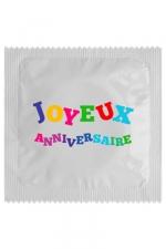 Préservatif humour - Joyeux Anniversaire : Préservatif Joyeux Anniversaire, un préservatif personnalisé humoristique de qualité, fabriqué en France, marque Callvin.
